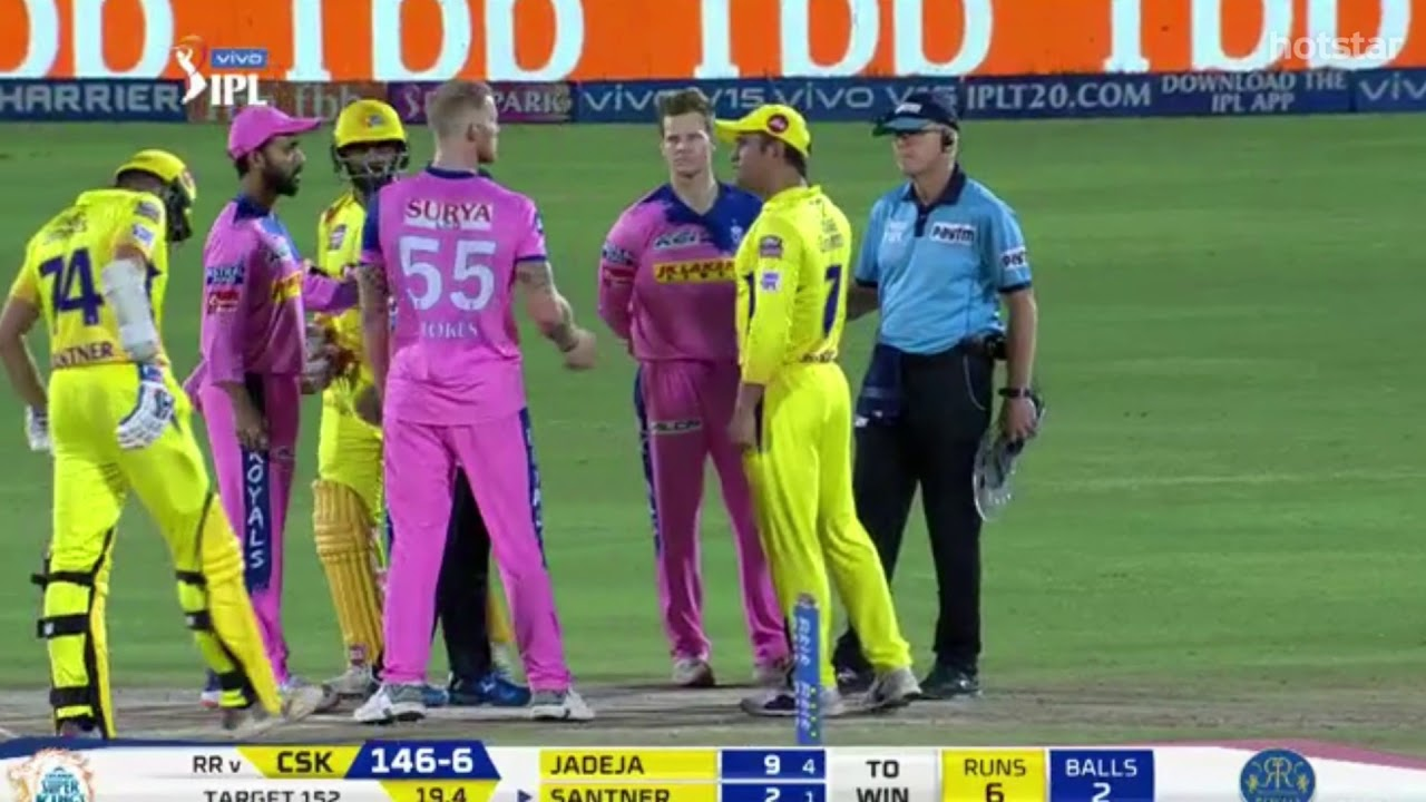 Photo of MS Dhoni Gets Angry And Fights With Umpire | Full Story | CSK vs RR IPL 2019
