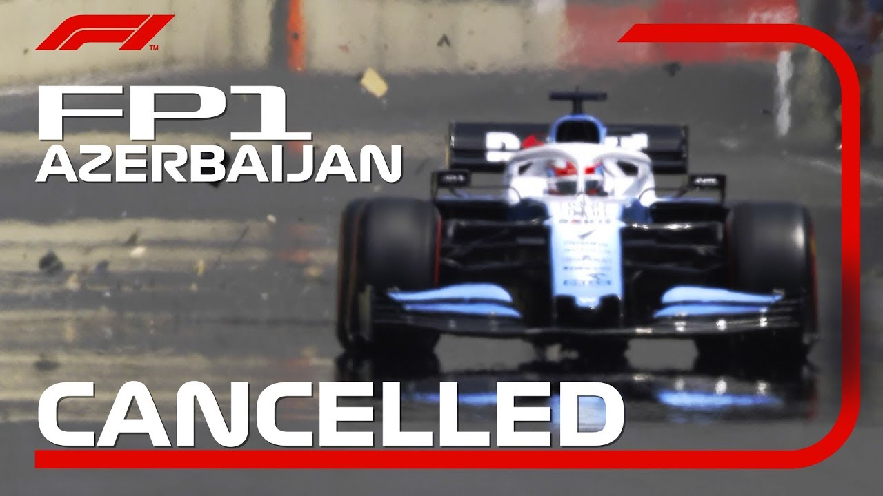 Photo of George Russell's Drain Cover Incident Ends FP1 | 2019 Azerbaijan Grand Prix