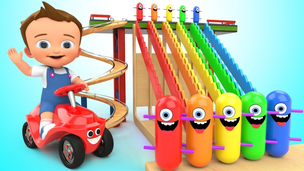 Photo of Learn Colors for Children with Baby Game Play Wooden Toy Funny Clown Tumbling 3D Kids Educational