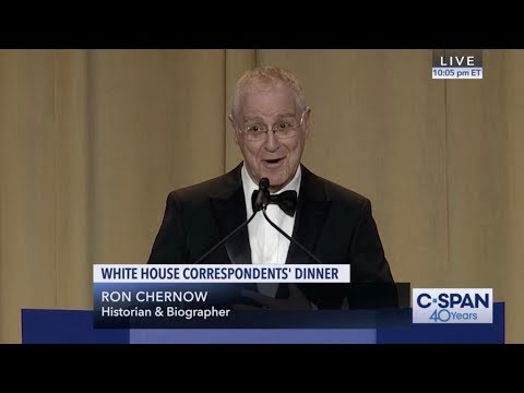 Photo of Ron Chernow COMPLETE REMARKS at 2019 White House Correspondents' Dinner (C-SPAN)