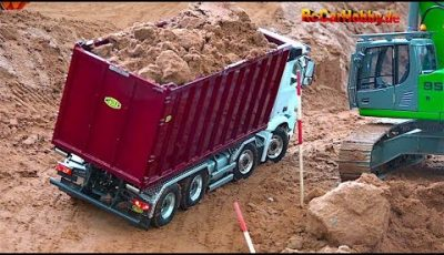 AMAZING R/C TRUCK ACTION – will it drop down… AT CONSTRUCTION WORLD – Nov 2017 p4