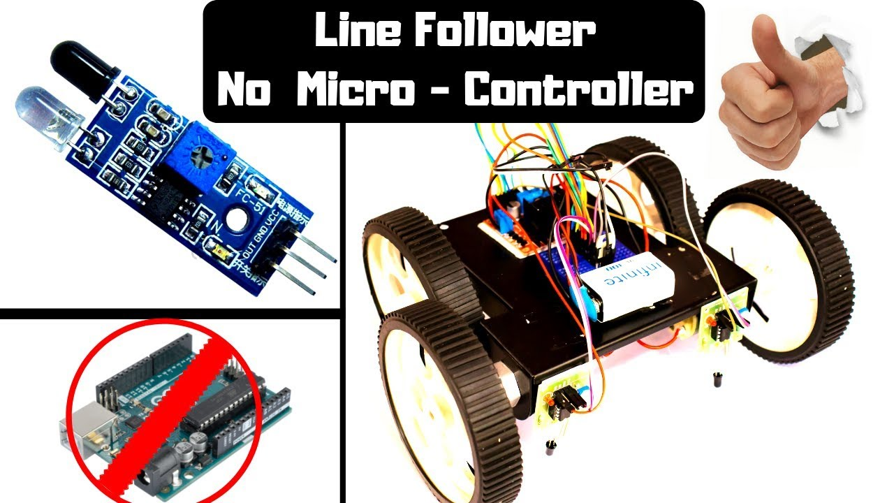 Photo of How to make a Line Follower without Microcontroller? Beginners Tutorial