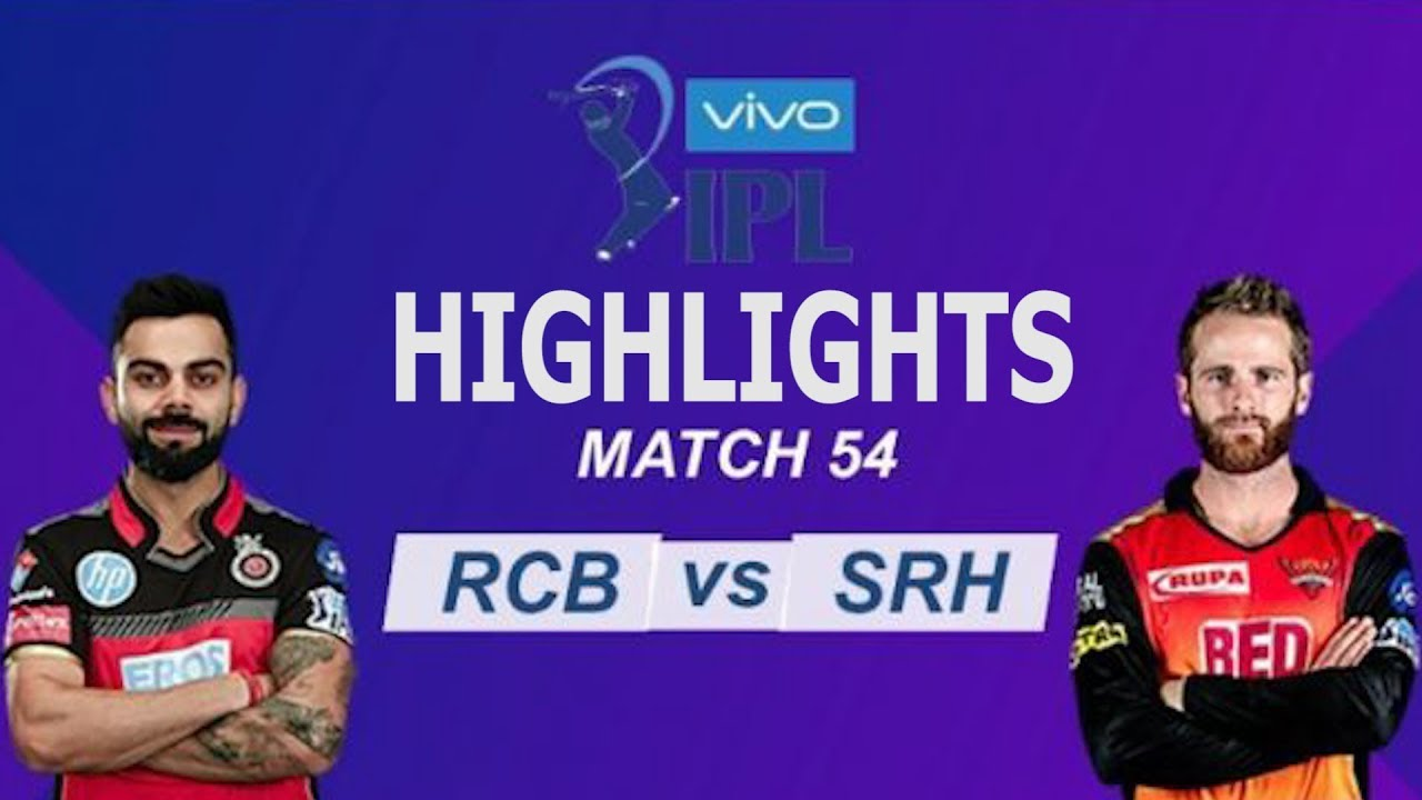 "Photo of Match 54 IPL 2019 Full Highlights ""RCB vs SRH"" Full Match Highlights Today"