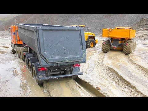 Photo of RC Vehicles Work in the Mud! Best R/C Construction Site! RC Trucks Extreme!