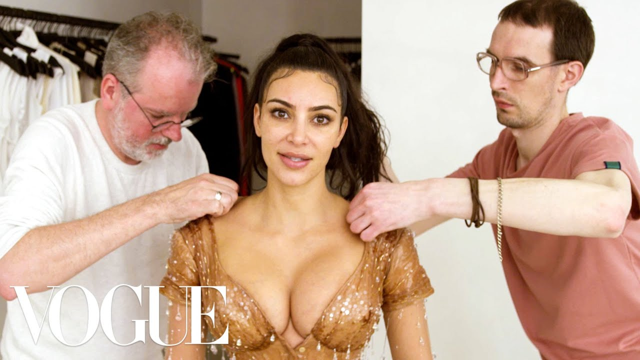 Photo of Kim Kardashian West Gets Fitted for Her Waist-Snatching Met Gala Look | Vogue