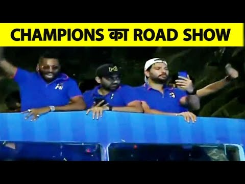 Photo of LIVE: Watch Mumbai Indians Players Celebrating their IPL Victory with Road Show in Mumbai I IPL 2019