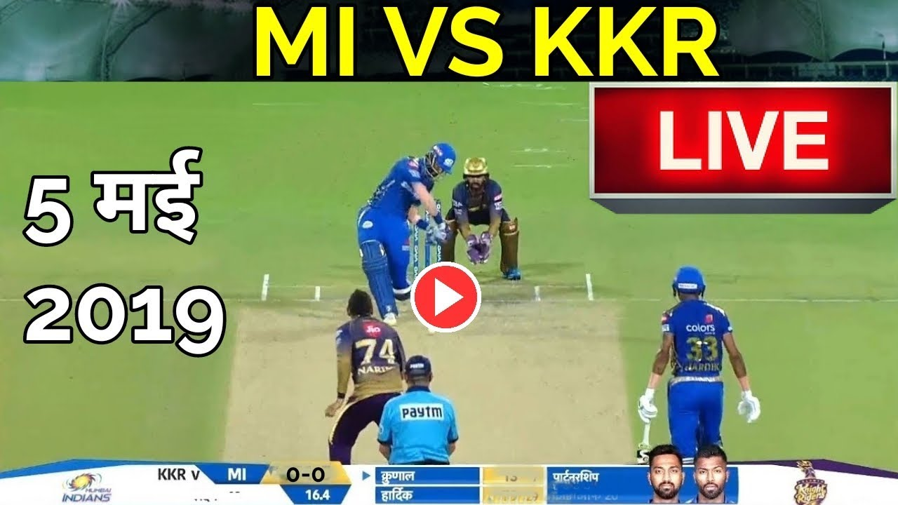 Photo of LIVE – IPL 2019 Live Score, MI vs KKR Live Cricket match highlights today