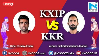 Live IPL 2019 Match 52 Discussion: KXIP vs KKR | Target For Kolkata Knight Riders is 184