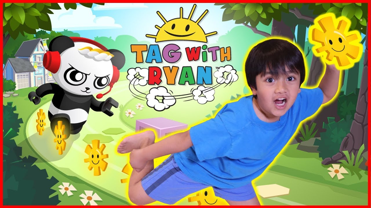Photo of Ryan Plays Tag with Ryan Game on iPad with Mommy!  Ryan VS Mommy Who scores higher Challenge!