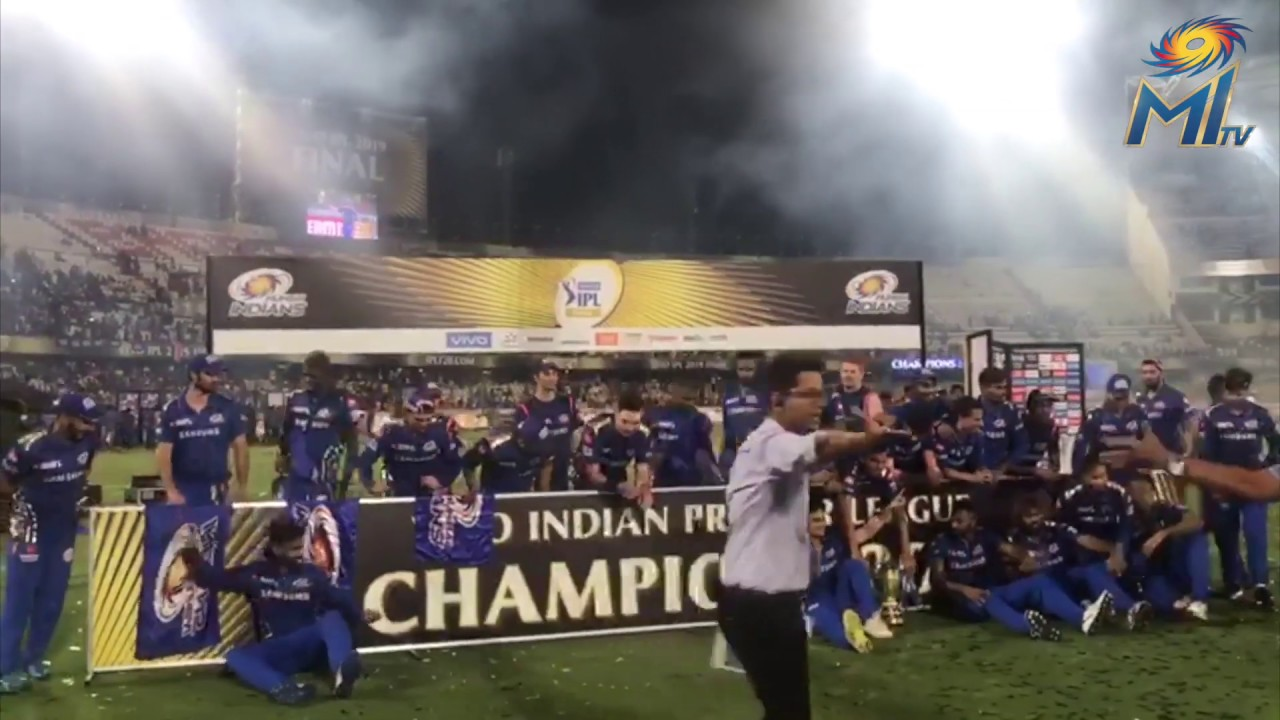 Photo of Mumbai indians celebration after final 2019 winner against CSK | IPL 2019 Final Celebration