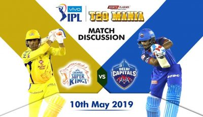 Chennai vs Delhi  T20  Qualifier 2 | Live Scores and Analysis (English) | IPL 2019