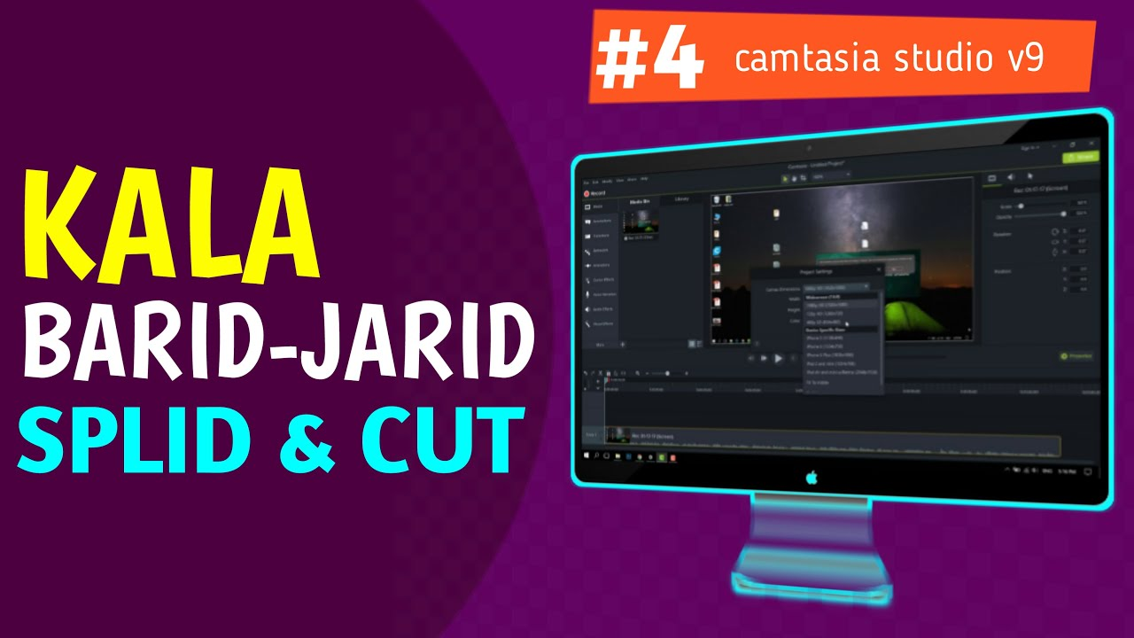Photo of #4 Kala barid iyo Jarid -Split and Cut- Camtasia Studio V9 Video Editing 2019