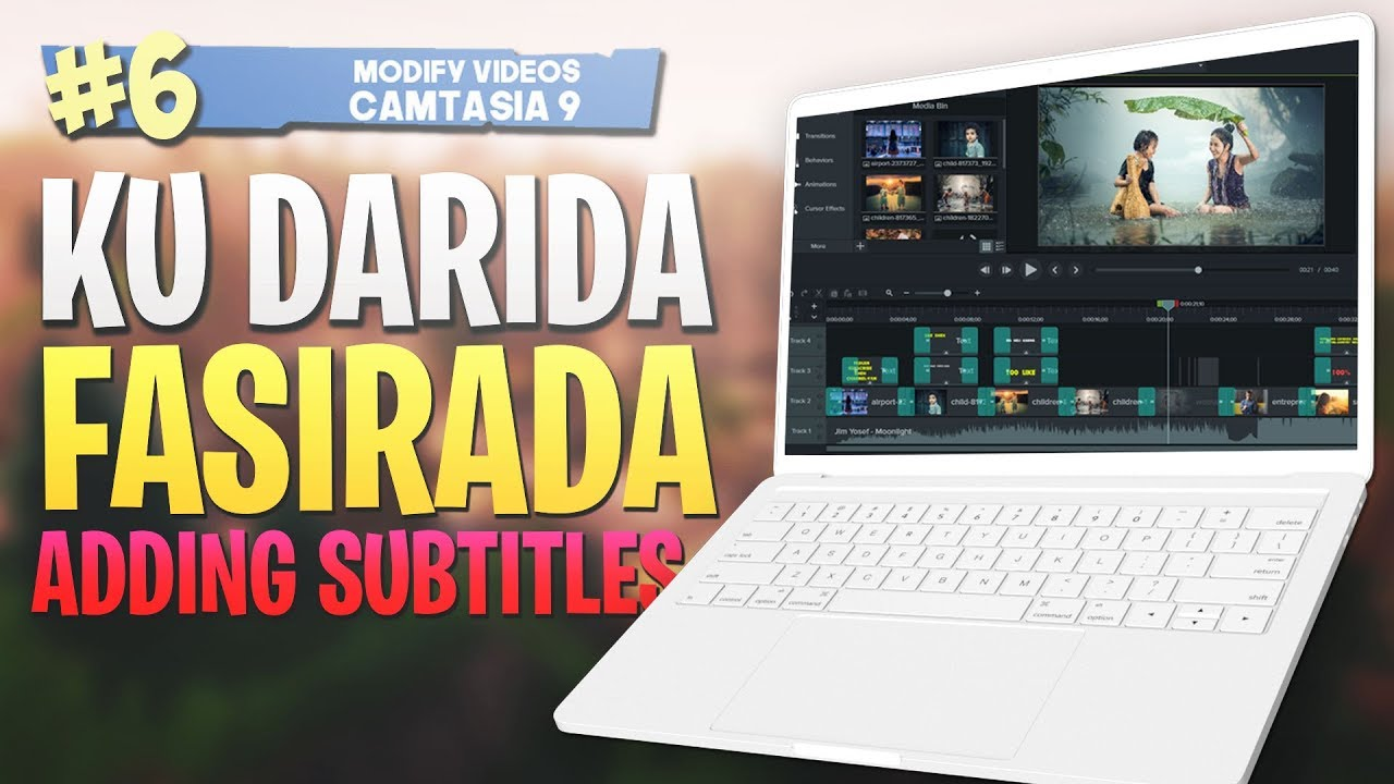 Photo of #6 Ku Darida Fasiraada |Adding subtitles| Camtasia Studio 9 Video Editing 2019