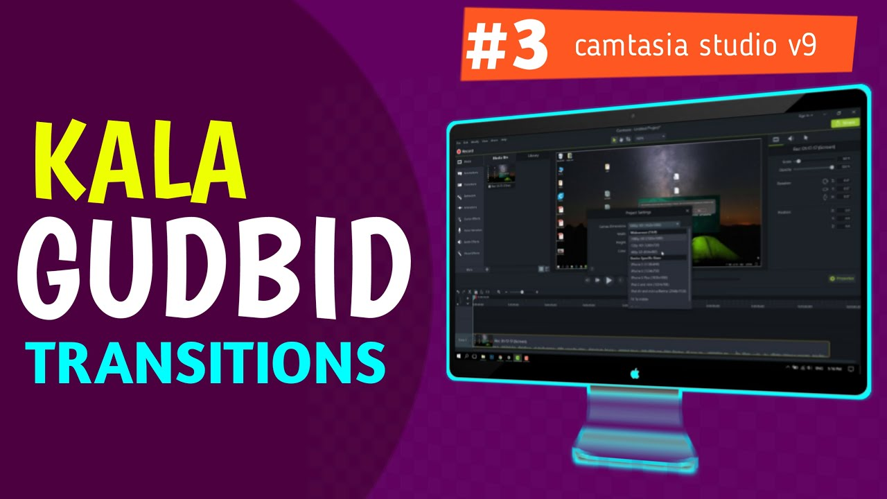 Photo of #3 Kala gudbinta Muuqaalka -Transitions- Camtasia Studio V9 Video Editing 2019