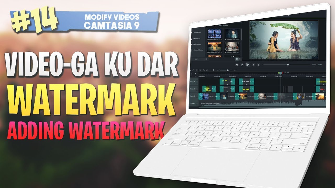 Photo of #14 Video-ga ku dar watermarks|Adding watermarks| Camtasia Studio 9 Video Editing 2019