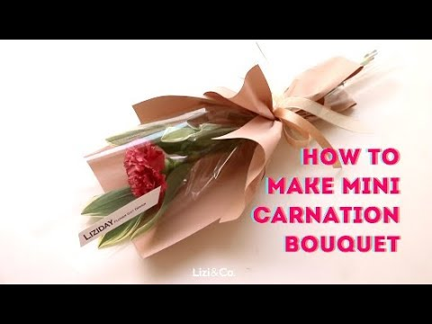 Photo of How to wrap flower Petit bouquet *Carnation
