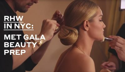 Rosie Huntington-Whiteley gets ready for the Met Gala 2019