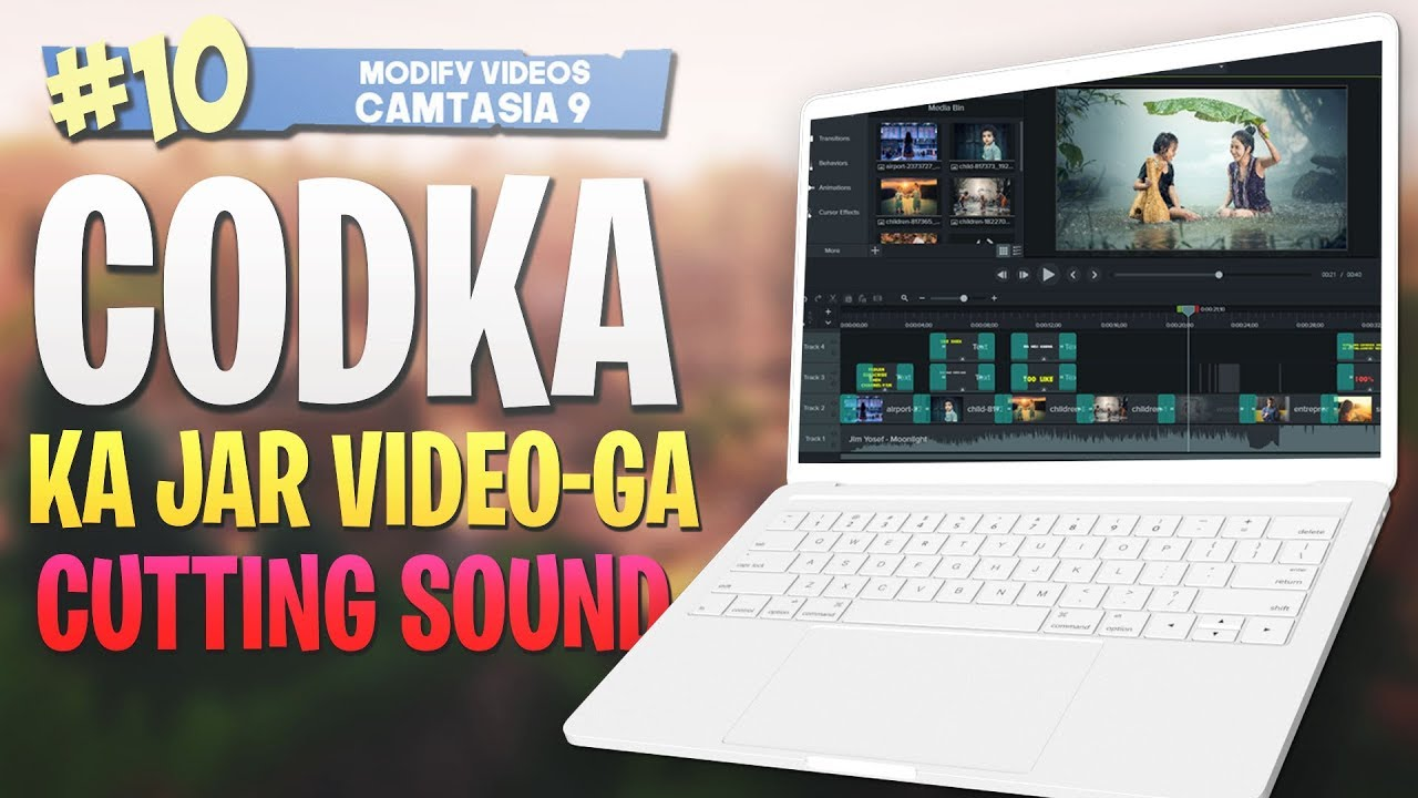 Photo of #10 Codka Ka Jar |Cutting sound| Camtasia Studio 9 Video Editing 2019