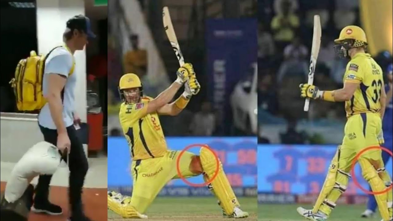 Photo of Shane Watson batting with Bleeding knee 🔥 IPL final 2019 Shane Watson Injury update