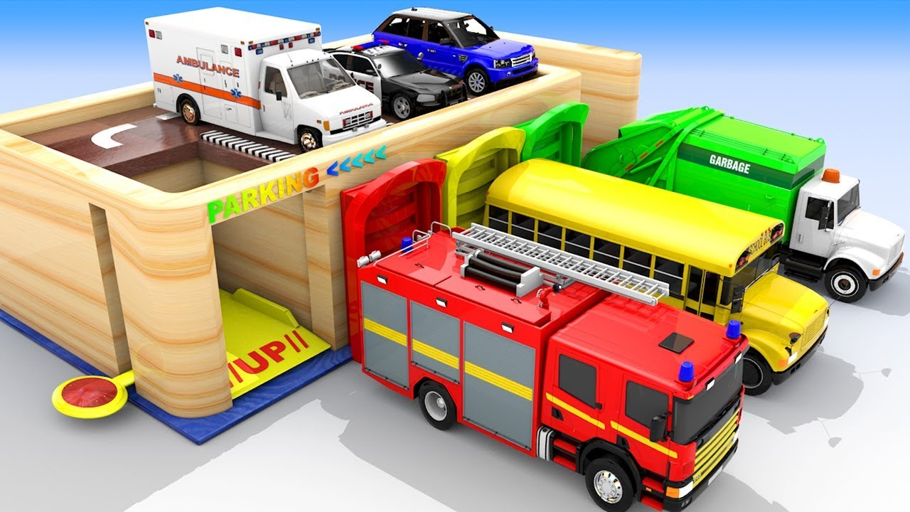 Photo of Colors for Children to Learn with Trucks Multi-Level Parking for Kids, Car Parking Videos for kids