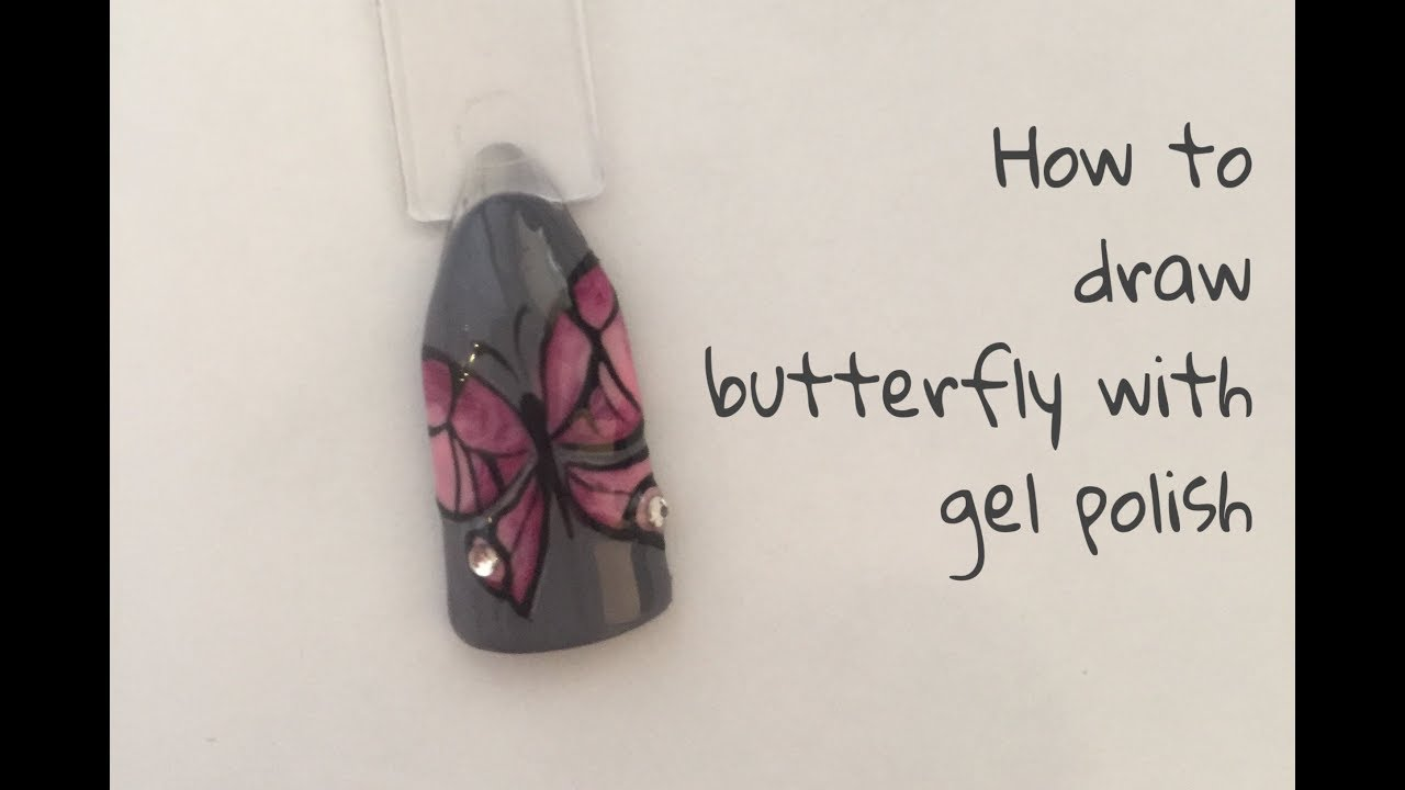 Photo of How to draw a butterfly with gel polish