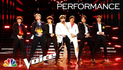 """BTS Performs """"Boy with Luv"""" – The Voice Live Finale 2019"""