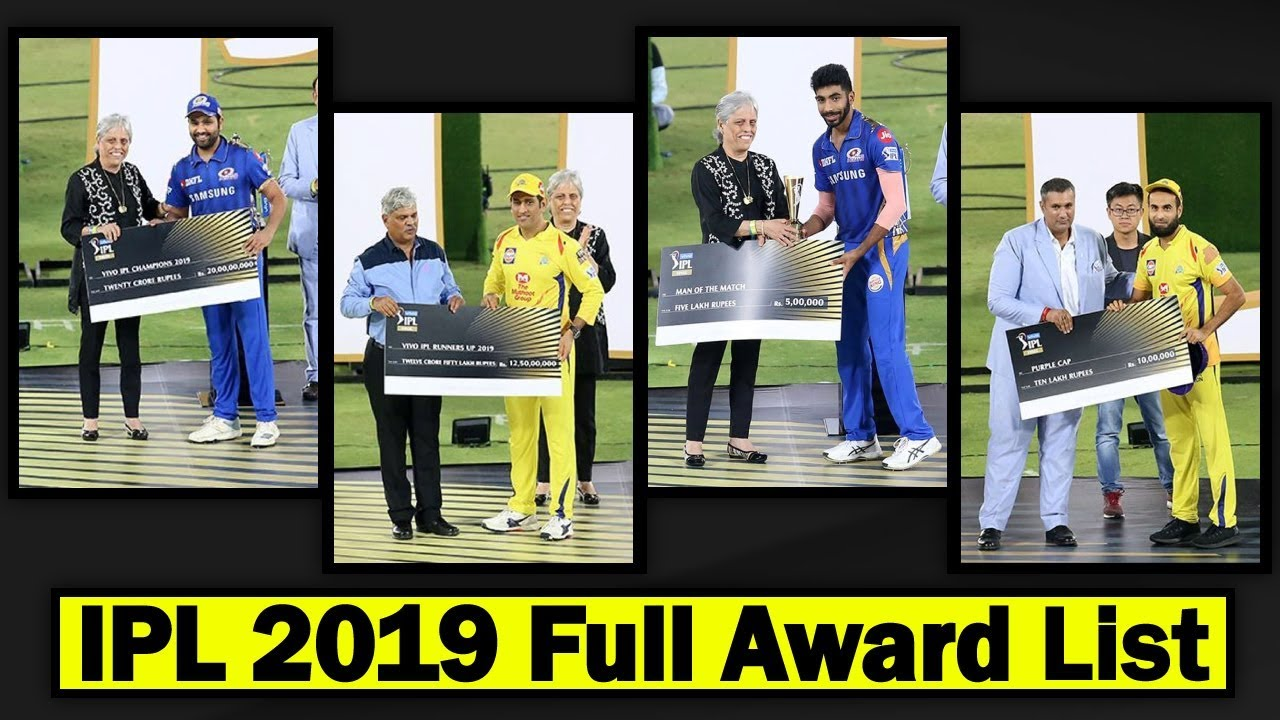 Photo of IPL 2019 Award Ceremony ★ IPL 2019 Winner Award, Prize Money ★ Full List