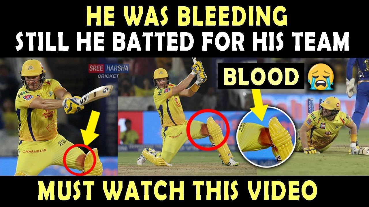 Photo of IPL 2019 Final : Shane Watson played with Bleeding Knee | Heart Breaking Video 💔 | Blood | Respect