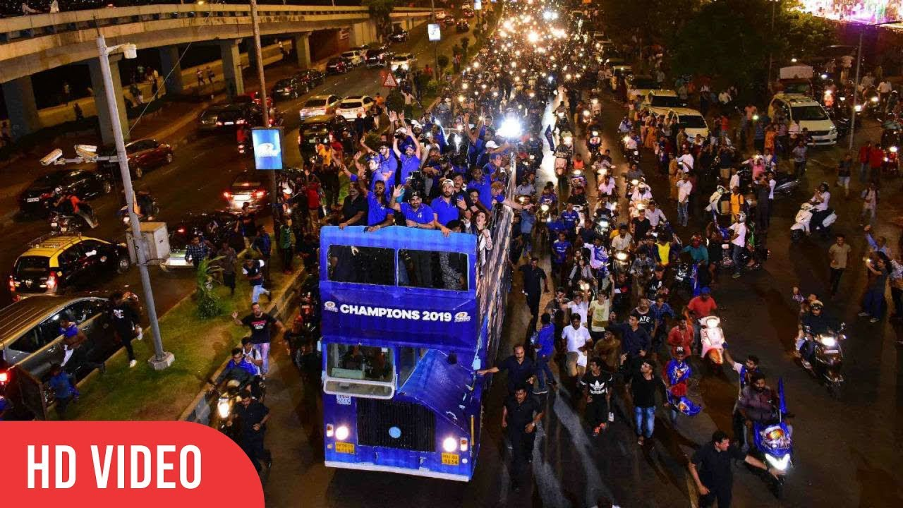 Photo of Mumbai Indians Celebrate IPL 2019 WIN with Open-Bus Parade | GRAND CELEBRATION | COMPLETE VIDEO