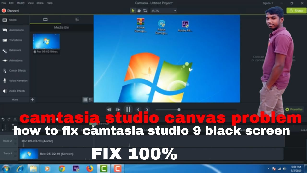 Photo of how to fix camtasia studio 9 canvas black screen