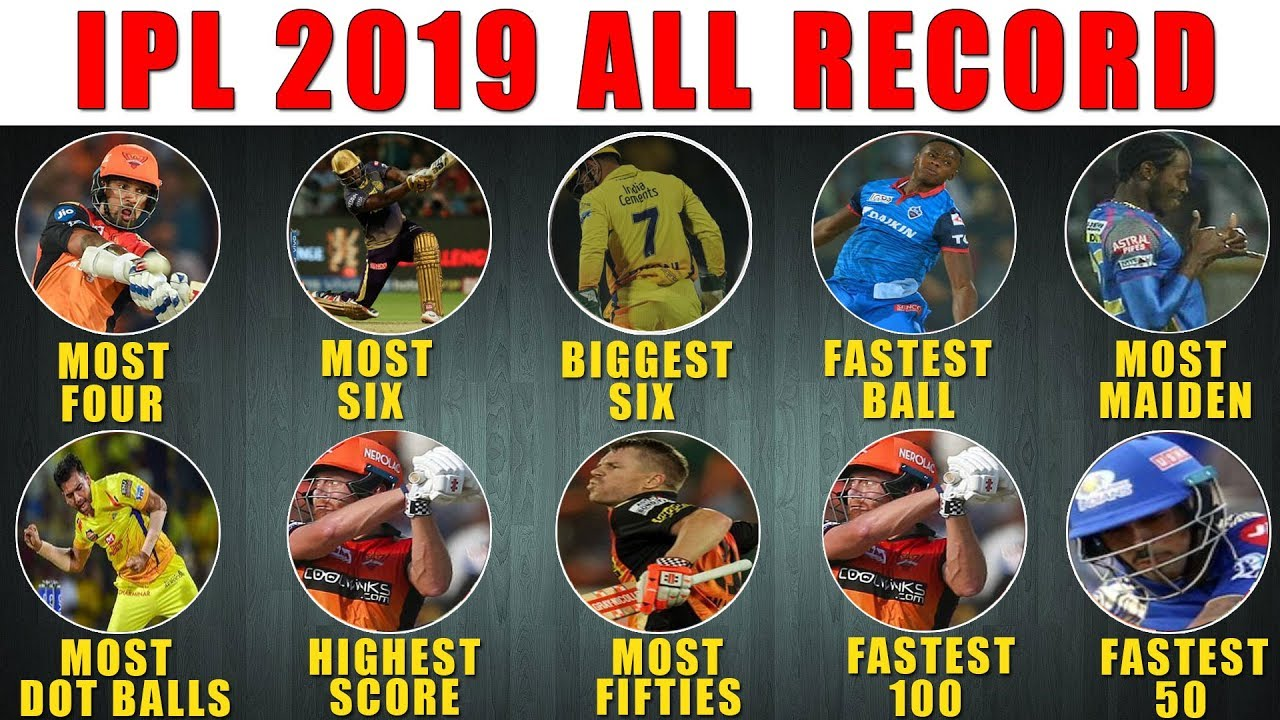 Photo of IPL 2019 :List Of All Records Of IPL 2019 | Most 4's | Most 6's | Fastest Ball | Biggest Six |