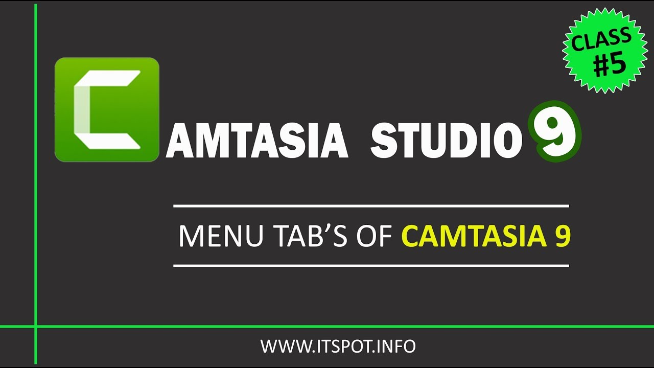 Photo of Learn Camtasia Studio 9 | Lesson 5 ( Menu's Tabs) in Urdu / Hindi