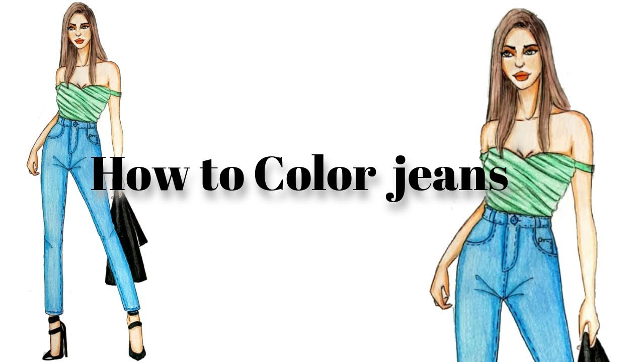 Photo of How to Color Jeans Using colored Pencils For beginners