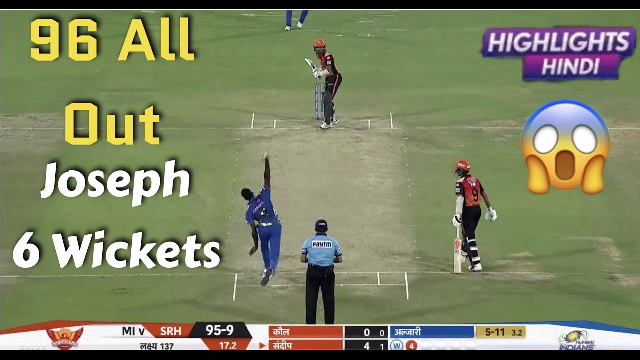 Photo of #SRH vs #MI 2019 Highlights | Joseph 6 wickets vs SRH | IPL 2019 Highlights | Sheh Infotandirector
