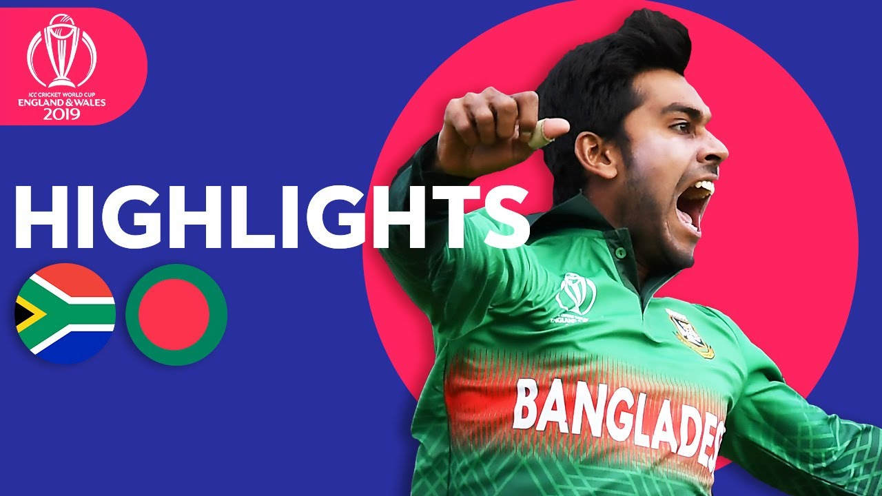 Photo of South Africa vs Bangladesh | ICC Cricket World Cup 2019 – Match Highlights