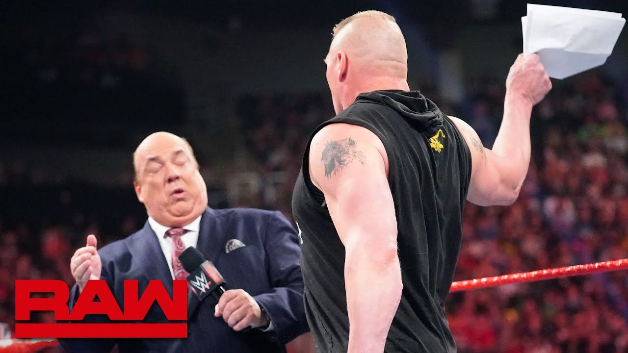 Photo of Brock Lesnar learns an important Money in the Bank detail: Raw, May 27, 2019