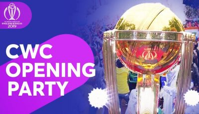 Opening Party – ICC Men's Cricket World Cup 2019