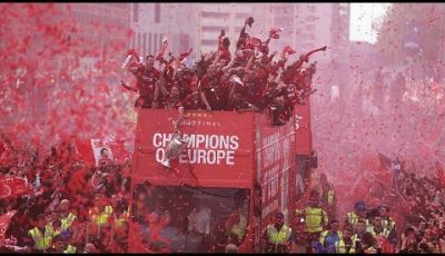 Liverpool's Champions League Trophy Parade