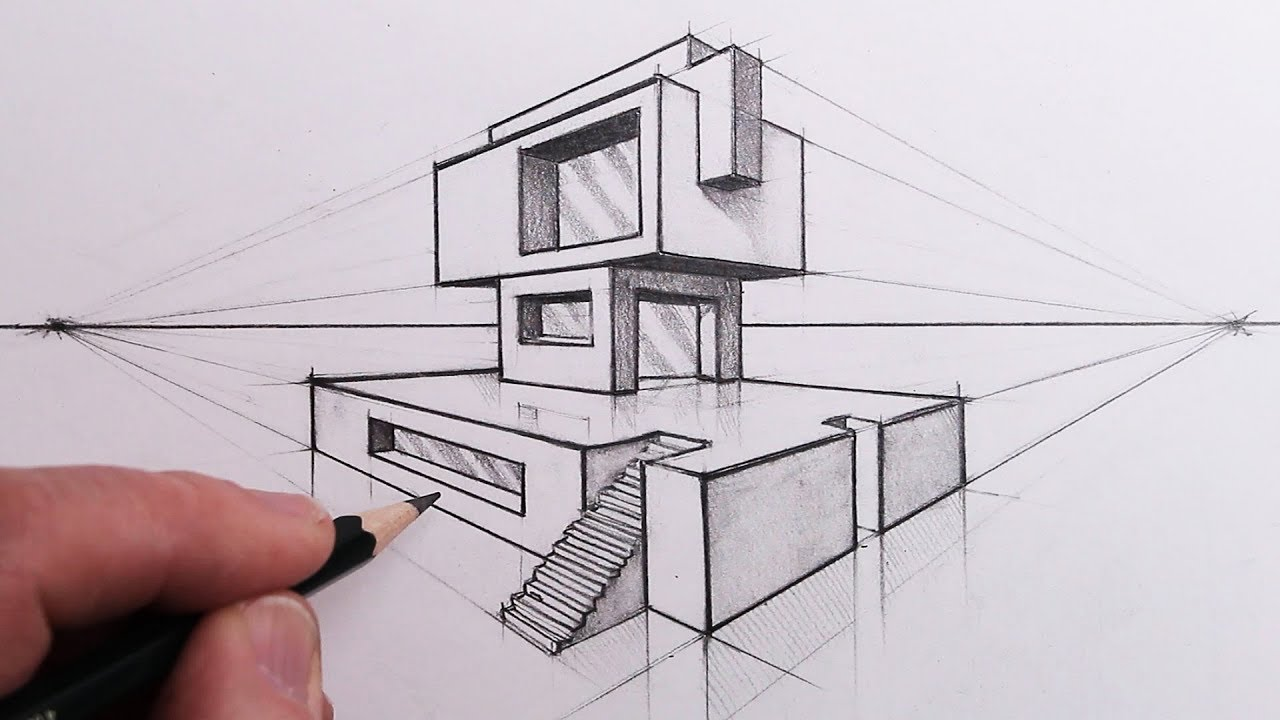 Photo of How to Draw a Building in 2-Point Perspective: Step by Steps
