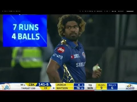 IPL 2019 FINAL OVER CSK VS MUMBAI | FINAL OVER 2019 | FULL HIGHLIGHT | MALINGA BOWLING