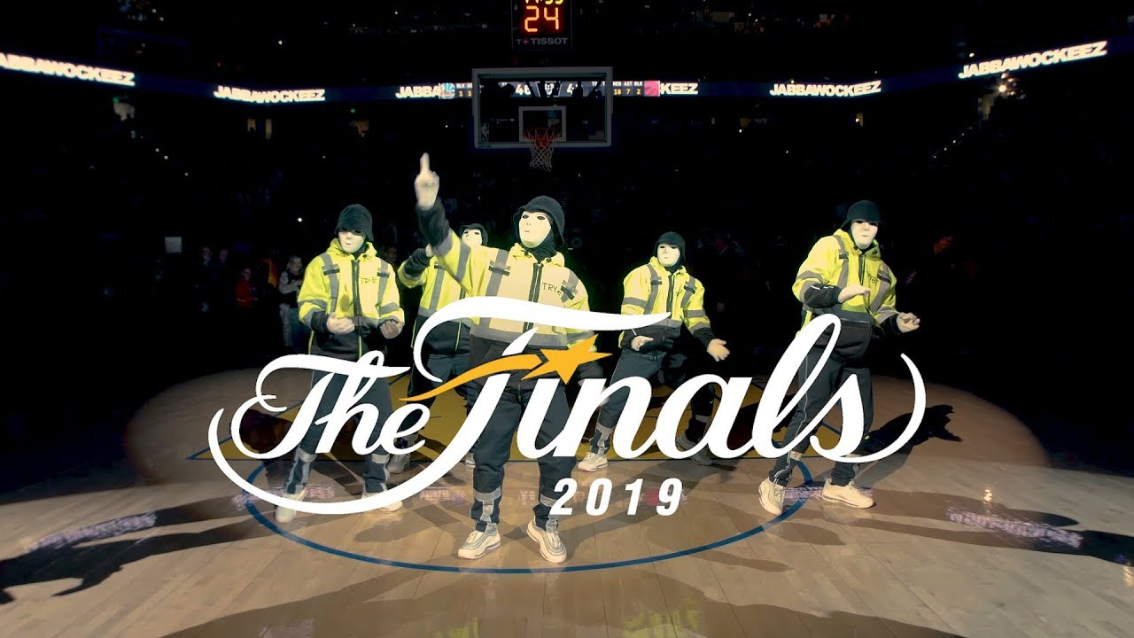 Photo of JABBAWOCKEEZ at the NBA Finals 2019