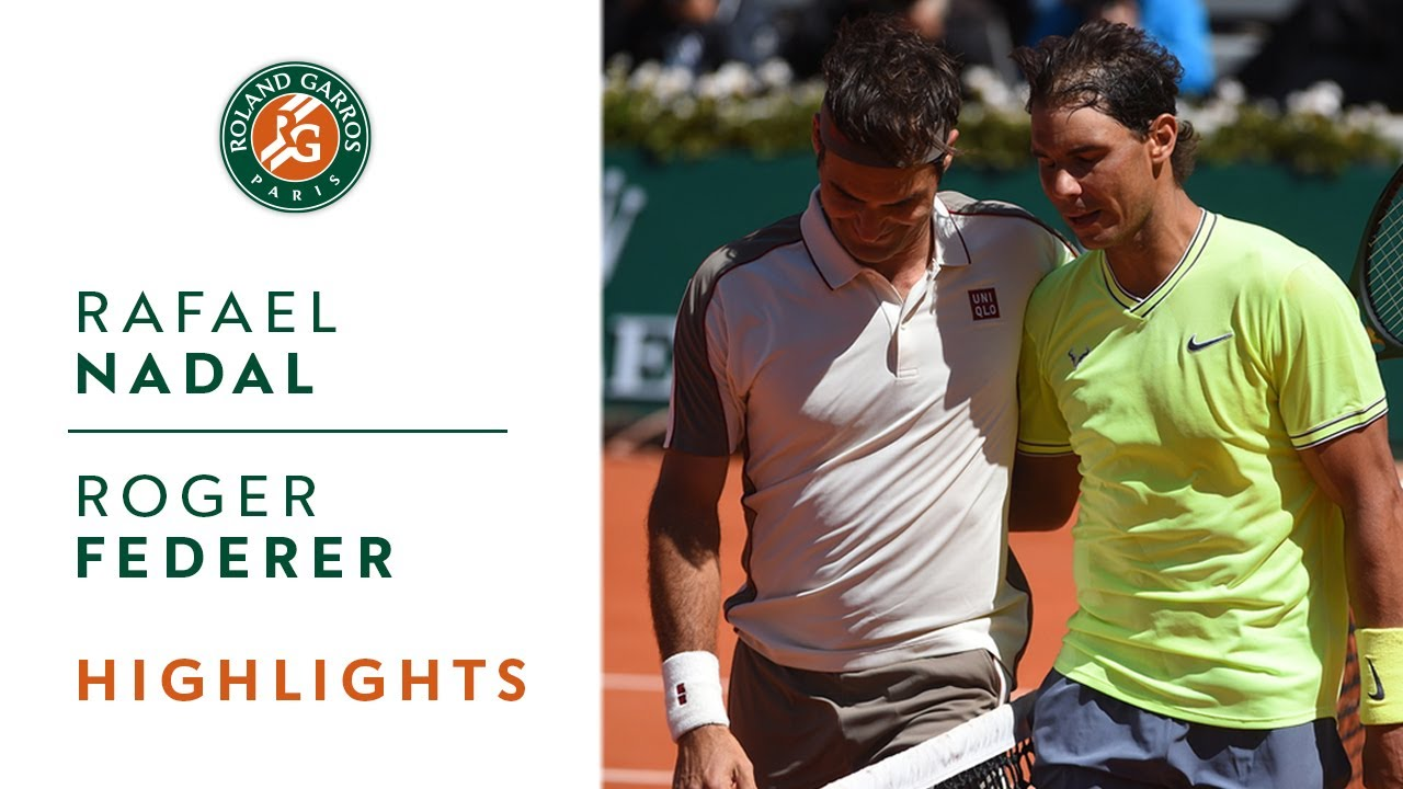 Rafael Nadal vs Roger Federer – Semi-final Highlights | Roland-Garros 2019