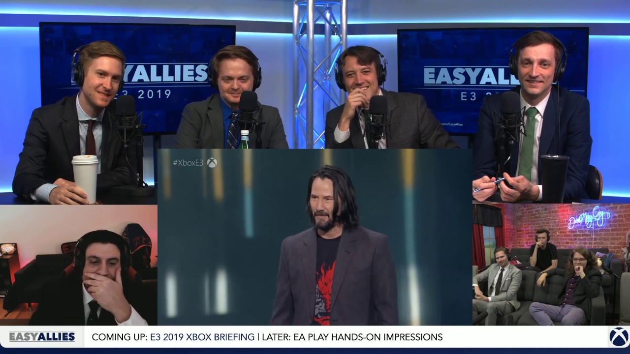 Photo of Cyberpunk 2077 w/ Keanu Reeves – Easy Allies Reactions – E3 2019
