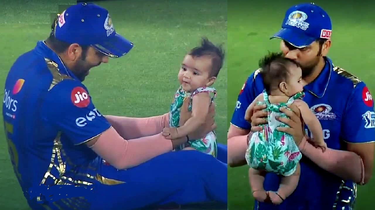 Photo of Ind vs Pak: Rohit Sharma EMOTIONAL MOMENT with daughter Samaira