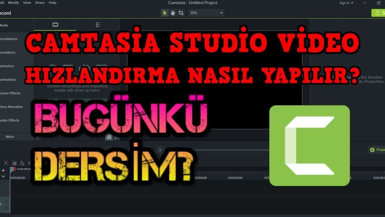 Photo of CAMTASİA STUDİO VİDEO HIZLANDIRMA NASIL YAPILIR?