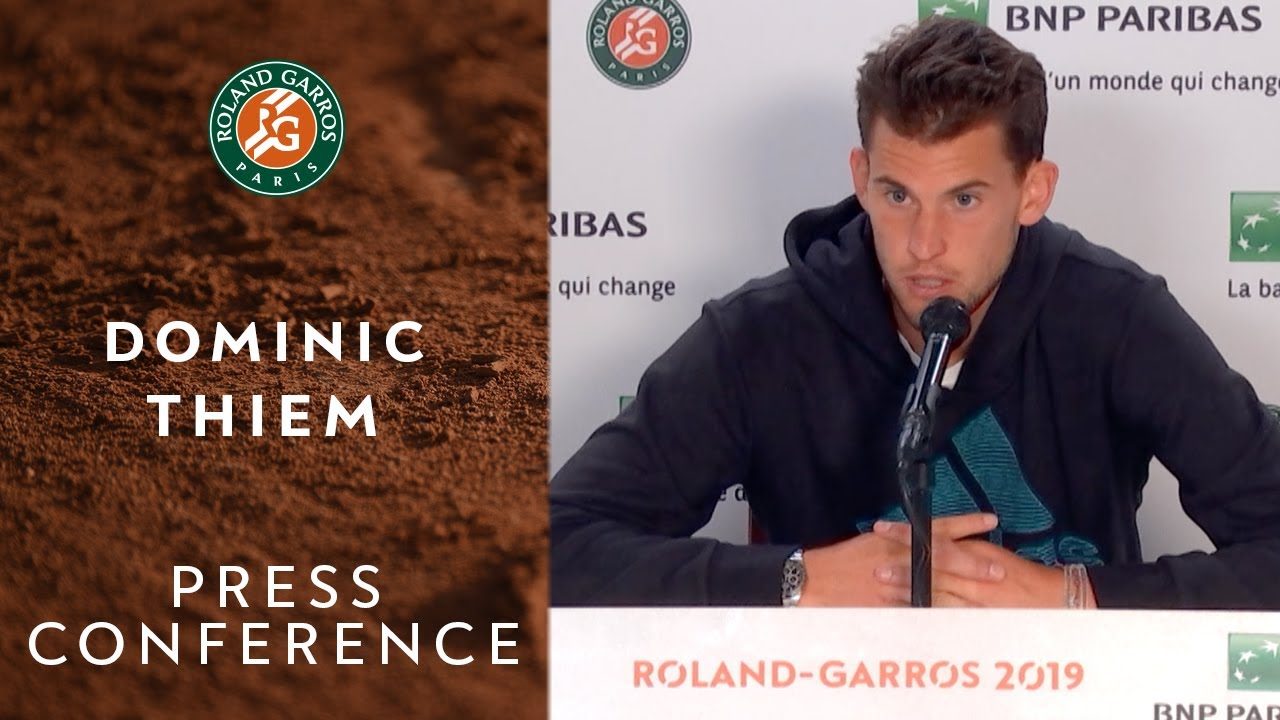 Photo of Dominic Thiem – Press Conference after Final | Roland-Garros 2019