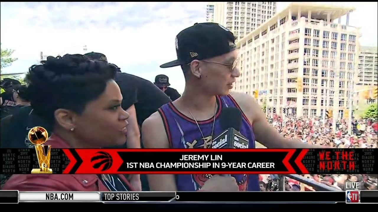 Photo of Jeremy Lin Interview – 2019 Toronto Raptors Championship Parade