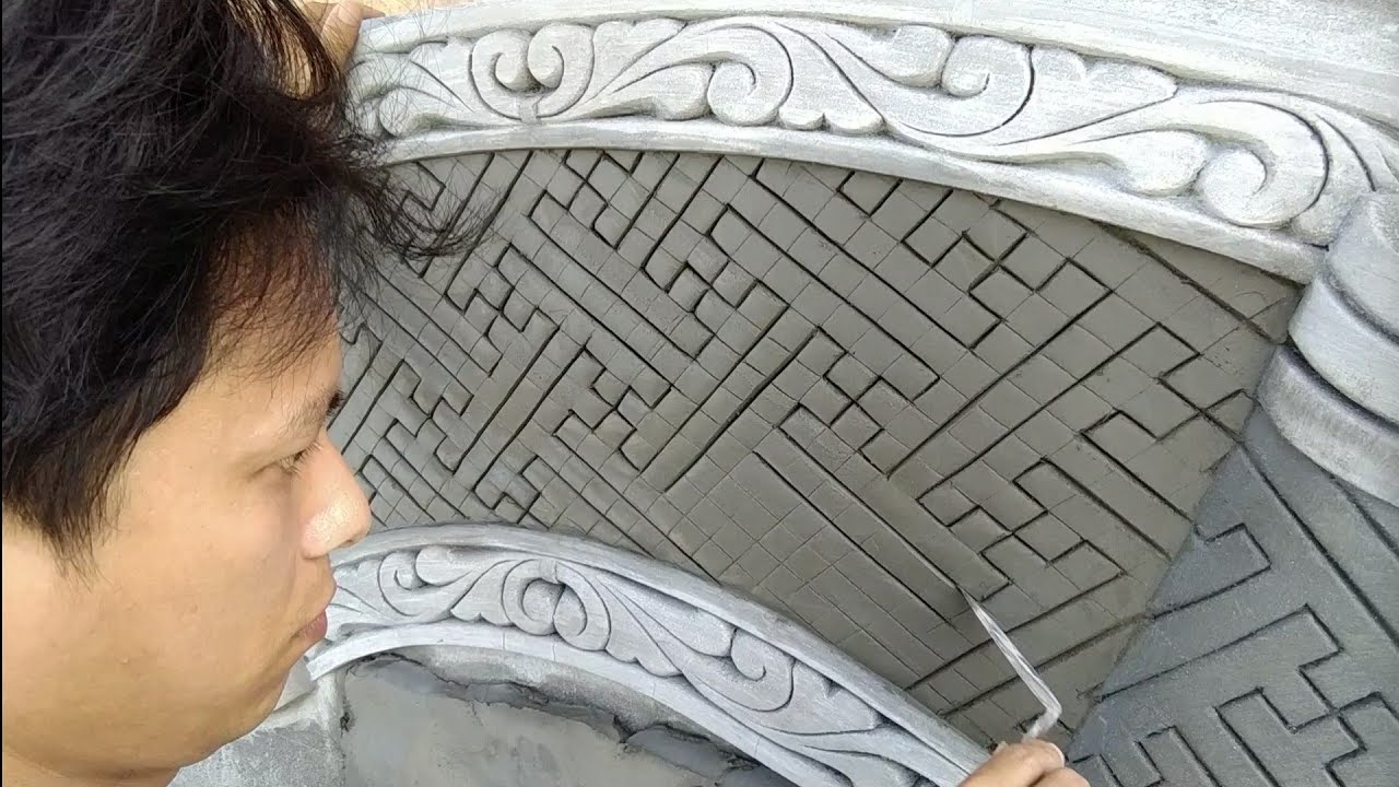 Photo of How to make cement brocade reliefs