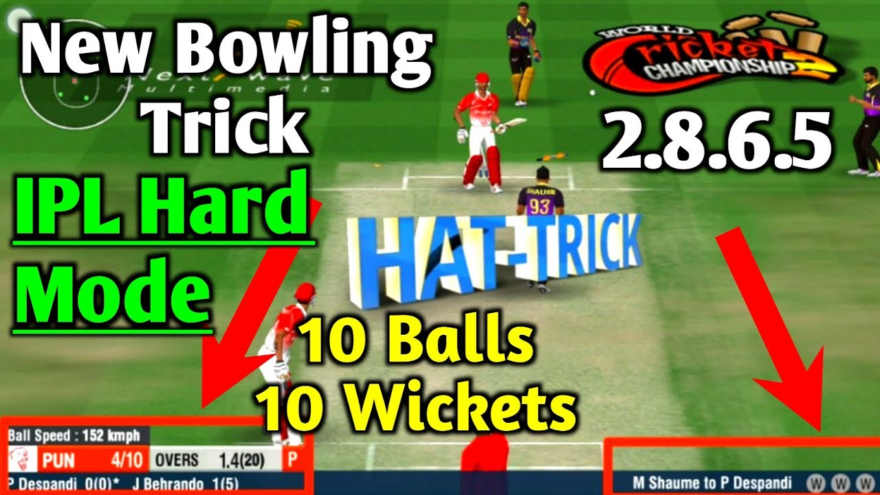 WCC2 2.8.6.5 Bowling Trick in IPL | How to Take Wickets in WCC2 IPL Hard Mode | New Bowling Trick