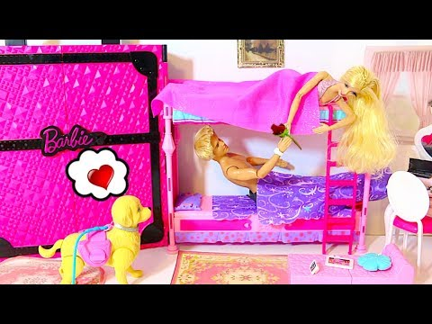 Photo of BARBIE & KEN NEW CAR MORNING ROUTINE WITH DOG BEDROOM BREAKFAST DRESS UP From USA 🇺🇸